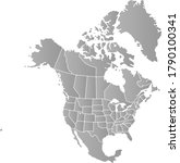 vector map monochrome of north... | Shutterstock .eps vector #1790100341