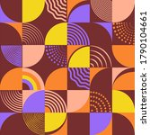 geometric shapes set juxtaposed ... | Shutterstock .eps vector #1790104661