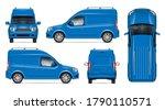 delivery blue van vector mockup ... | Shutterstock .eps vector #1790110571