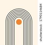 abstract background. line art.... | Shutterstock .eps vector #1790114684