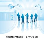 young people on an abstract... | Shutterstock . vector #1790118