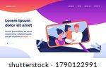 family selfie photo on phone... | Shutterstock .eps vector #1790122991