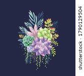 Colorful Succulent Bouquet On...