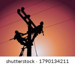 Power Outage Concept   Lineman...