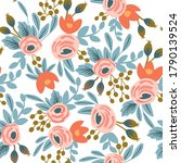 seamless floral pattern with... | Shutterstock .eps vector #1790139524