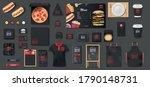 black mockup for pizzeria  cafe ... | Shutterstock .eps vector #1790148731