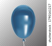 realistic of blue balloon with...   Shutterstock .eps vector #1790161217