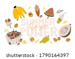 summer picnic  fruits  berries  ... | Shutterstock .eps vector #1790164397