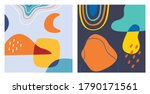 set of contemporary background... | Shutterstock .eps vector #1790171561