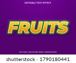 fruis text effect template with ... | Shutterstock .eps vector #1790180441