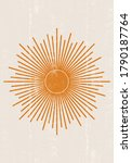 sun print boho minimalist... | Shutterstock .eps vector #1790187764
