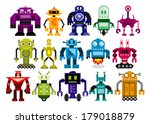 vector set of different cartoon ... | Shutterstock .eps vector #179018879