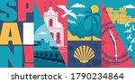 spain vector skyline... | Shutterstock .eps vector #1790234864