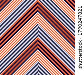 Orange Chevron Diagonal Striped ...