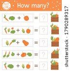 counting game with vegetables... | Shutterstock .eps vector #1790289317