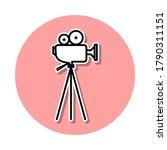 cinema camera sticker icon....