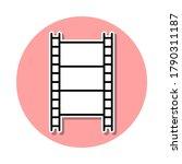 film sticker icon. simple thin...