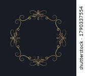 hand drawn golden ornate square ... | Shutterstock .eps vector #1790337554