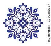 Floral Round Pattern  Circular...