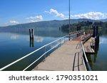 Lake Zug near the village of Buonas (Risch Rotkreuz), landing place, Canton of Zug, Switzerland