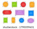 quote bubbles set. frame box...   Shutterstock .eps vector #1790359631