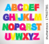 colorful vector alphabet.  use... | Shutterstock .eps vector #179037581