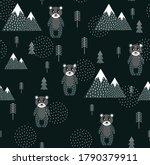 vector scandinavian pattern.... | Shutterstock .eps vector #1790379911