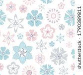 seamless vintage floral pattern ... | Shutterstock .eps vector #1790389811