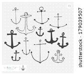 hand drawn anchor set    Shutterstock .eps vector #179039507
