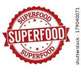 superfood grunge rubber stamp... | Shutterstock .eps vector #179040071
