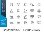 soccer line icon set. included... | Shutterstock .eps vector #1790422637