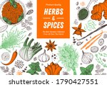 herbs and spices hand drawn... | Shutterstock .eps vector #1790427551
