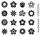set of flat flower icons in... | Shutterstock .eps vector #179042921