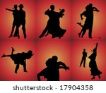 silhouettes of six couples... | Shutterstock . vector #17904358