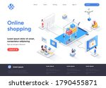 online shopping isometric... | Shutterstock .eps vector #1790455871