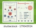 user interface of soccer tactic ... | Shutterstock .eps vector #179045924