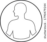 human body icon in line art...