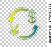 currency exchange sign. japan... | Shutterstock .eps vector #1790487131