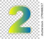 number 2 sign design template... | Shutterstock .eps vector #1790488217