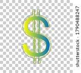 united states dollar sign. blue ... | Shutterstock .eps vector #1790488247
