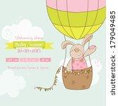 baby shower or arrival card.... | Shutterstock .eps vector #179049485