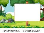 Blank Banner In Nature Park...