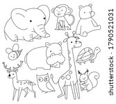 Vector Linear Drawing  Set Of...