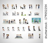 business peoples in different... | Shutterstock .eps vector #179052254