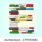 Letter E. Stack Of Multi...
