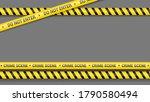 police tape  crime danger line. ... | Shutterstock .eps vector #1790580494