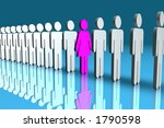 line of male 3d figures with... | Shutterstock . vector #1790598