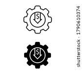 reduce vector icon set ...   Shutterstock .eps vector #1790610374