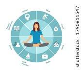 Woman Sitting In Yoga Lotus...