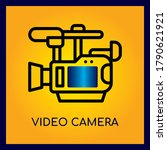 video camera.thin line and...